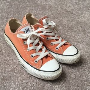 Low-top orange Converse. Worn only 2-3 times